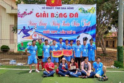 Trường THPT Lương Thế Vinh đạt Huy chương Bạc Hạng A Giải bóng đá mùa xuân khối THPT tỉnh Đăk Nông năm 2018