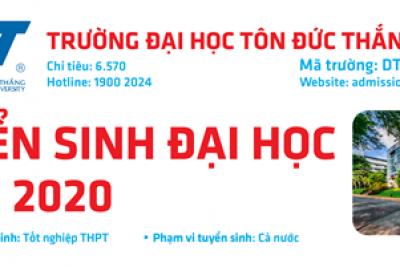THÔNG TIN TUYỂN SINH NĂM 2020 CỦA TRƯỜNG ĐẠI HỌC TÔN ĐỨC THẮNG